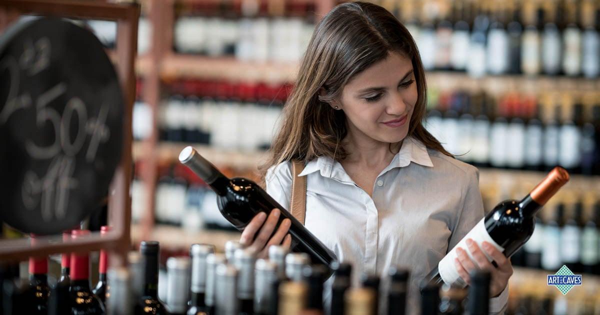 As formas das garrafas de vinho