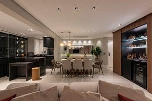 Modelo de bar e adega desenvolvido por Cotta Arquitetura e Interiores