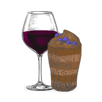 chocolate e vinho do porto