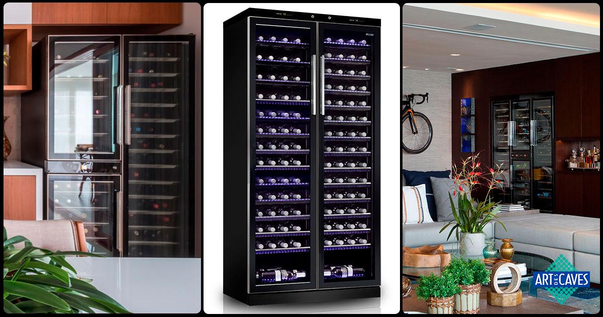 Três modelos de adegas para armazenar diferentes tipos de vinho