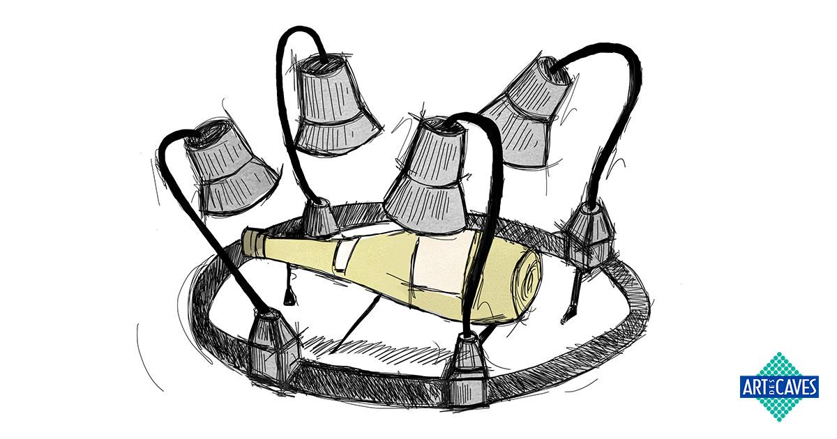 Vilões do vinho: iluminação
